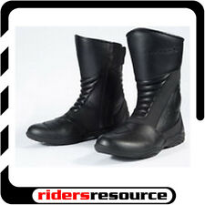 Tourmaster Womens Solution WP 2 Leather Motorcycle Boots Black (Choose Size)