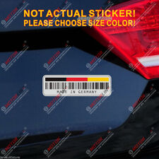 UPC Bar Code Made In Germany German Flag Reflective Car Trunk Decal Sticker