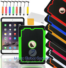 SHOCKPROOF MILITARY TOUGH DEFENDER HARD CASE COVER RUBBER FOR APPLE iPAD MINi