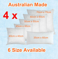 Aus Made New CUSHION INSERTS Premium Polyester Fibre Filling