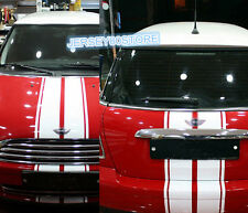 DIY Double Stripes Car Hood&Rear Trunk Decal Sticker Fit for BMW Mini Cooper etc