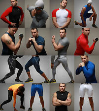 Sports Wear Compression Base Layer Shirts Top Pants Tights Shorts Rash Guard MMA