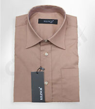 Page Boy Light Brown Formal Shirt Boys Wedding Prom Suit Shirts Age 1 to 16