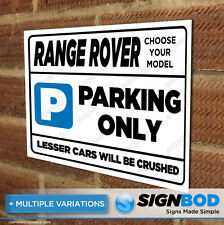 Parking Sign Gift for Range Rover Owner - Birthday Present for Men or Women