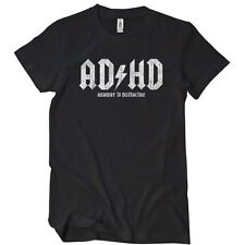 AD HD HIGHWAY TO DISTRACTION T-Shirt Soft Funny AC Entourage Tee Soft AD/HD VTG