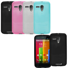 New Flexible Candy Color Soft Gel Case Cover Shell for Motorola Google Moto G
