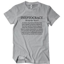 INEPTOCRACY TSHIRT Political GOVERNMENT TEE Election 2016 FUNNY USA Convention