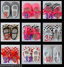 NEW BABY GIRL SHOES CHRISTENING INFANT TODDLER 0-3 3-6 6-9 9-12 months