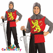 Kids Medieval Lord KNIGHT World Book Day Boys Fancy Dress Party Outfit PA