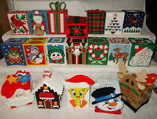 Handmade Plastic Canvas Tissue Boxes / Toppers / Covers