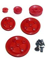 Plastic pulleys, 6 different sizes, great for Hobby models, Robots toys etc,