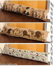 New TAPESTRY DRAUGHT EXCLUDERS Different Designs Cat Dog Sweet Home