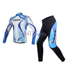 Santic Cycling Bicycle Bike Long Sleeves Jersey+4D Padded Pants Trousers CT024B