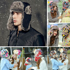 New Mens Warmer Earflap Russian Trapper Trooper Bomber Winter Snow Ski Hat Cap