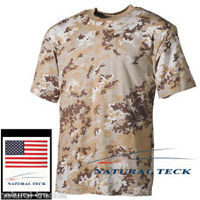 Tee shirt Militaire US vegetato désert Army Camo Commando Paintball Airsoft TOE