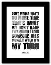 ❤  BIFFY CLYRO Living ❤ song words typography poster art  print - A1 A2 A3 or A4