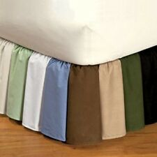 "800TC Split Corner Bed Skirt Solid 12""Drop lenght 100%Egyptian Cotton all Color"