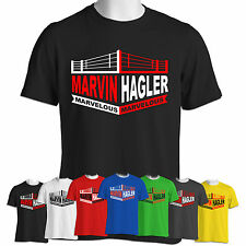 Marvelous Marvin Hagler T Shirt Boxing Legend Middleweight Champion Sports Ring