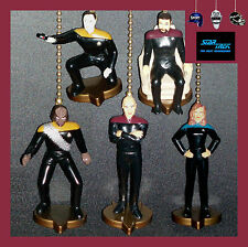 """STAR TREK """"THE NEXT GENERATION"""" CEILING FAN PULLS - CHOICE OF 1 OR 2 FIGURINES"""