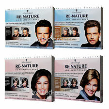 Schwarzkopf RE-NATURE Anti Gray Hair Men's - Women's Natural Hair Coloring Kit