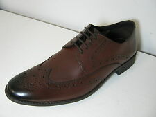 Clarks Chart Limit Brown Leather Smart Lace Up Brogue Shoes