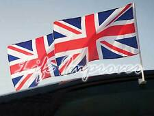 2 Union Jack Car Flag Flags London Great Britain Olympics Large Size 18'' x 12''