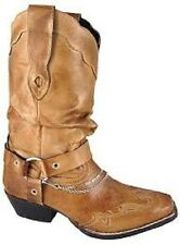 NEW! Ladies Smoky Mountain Boots - Western Cowboy Boot -Leather Slouch Chain