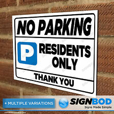 No Parking Sign - Residents Only