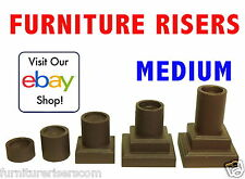 FURNITURE RISERS -- MEDIUM, Solid Wood, Colors and Heights, Raise Sofa or Bed
