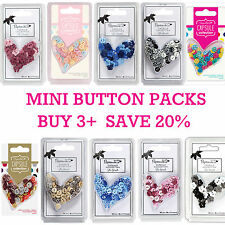 Small Mini Plastic Buttons Assorted Packs Papermania Capsule Collection Colours