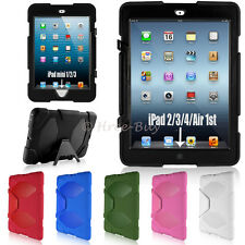 Kids ShockProof Armor Military Heavy Duty Hybrid Hard Case Cover For Apple iPad
