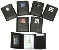 NFL Official Trifold Top Grain Genuine Leather Wallet Emblem Wallets team 2104
