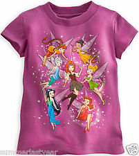 THE PIRATE FAIRY TEE FOR GIRLS ~DISNEY STORE~ TINKER BELL, ZARINA, & THE FAIRIES