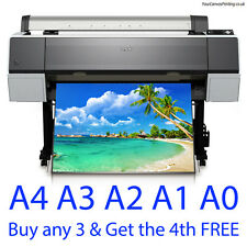 Colour Poster Printing - Satin or Gloss - A0 A1 A2 A3 A4 - Photo Quality