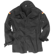 MIL-TEC BW GERMAN ARMY MOLESKIN JACKET MILITARY MENS SECURITY COTTON SHIRT BLACK