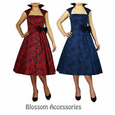 RK79 Rockabilly Evening Retro Bridesmaid Dress Pin Up Vintage 50s Prom Swing