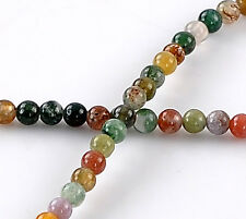 Wholesale Jewelry Mixed Indian Agate Semi-precious Gemstone Loose Beads 4mm