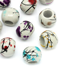 """Wholesale Lots Jewelry Acrylic Spacer Beads Round Flower Mixed 16mm( 5/8"""")Dia."""