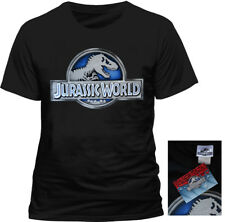 Official JURASSIC PARK LOGO T Shirt Classic Dinosaur All Sizes NEW