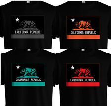 California Republic Flag T shirt Cali CA Bear West Coast Fresh Dope Colors NEW