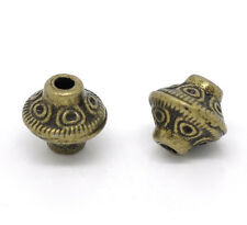 Wholesale Lots DIY Jewelry Bicone Spacer Beads Bronze Tone 6x6mm