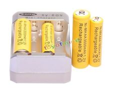 2x AA 3000mAh + 2x AAA 1800mAh 1.2V Ni-MH Yellow Rechargeable Battery +Charger