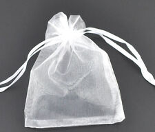 Wholesale HOT! Organza Bags Wedding Gift White Drawable 16x13cm