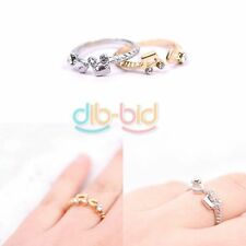 Hot Fashion Lovely Cute Sweet Music Notes Thread Rhinestone Opening Ring