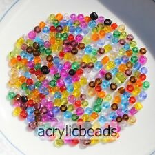 Clear Color Czech Glass Seed Spacer Beads Seed Beads DIY Jewelry Finding 2,3,4mm