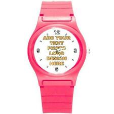 Custom Personalised Round Small Plastic Sport Watch - Free P&P