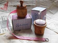 Sajou French vintage style wooden Tape measure/ Pin Cushion- Pink