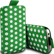 Case cover for Apple iphone 4, PU Leather Pull tab Pouch Polka Dot Design - (S)