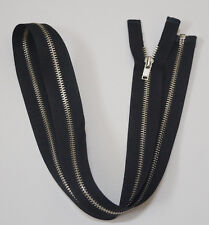 Metal Open End  black zipper #3,Zips,Zipper,DAD Slider,CHOICE OF LENGTH