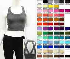 Caged back strappy workout  Crop tank top multi color